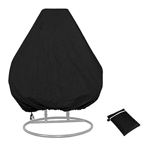 tefnuts Patio Hanging Chair Cover,Hanging Egg Chair Cover Rip Proof Waterproof 210D Oxford Fabric Rattan Wicker Swing...