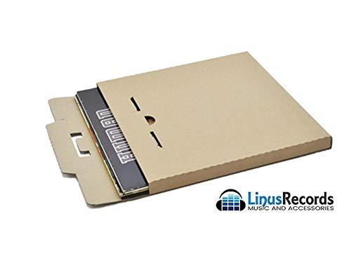"""LinusRecords 50 scatole in cartone rigido per spedire dischi in vinile (capienza 3 dischi 12"""")"""