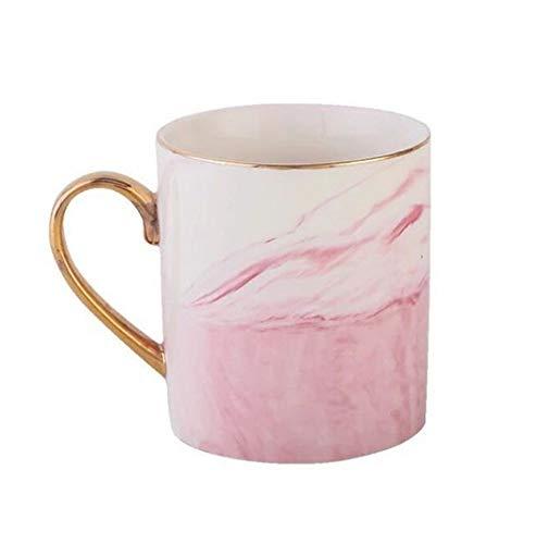 Tazza da tè in marmo rosa tazza da caffè per le donne rosa marmorizzazione artigianale ceramica tazza di caffè in marmo tazza creativa colazione latte acqua tazza di caffè 10oz