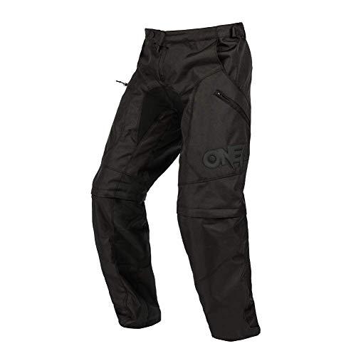 O'Neal | Motocross-Hose | Enduro MX | Strapazierfähiges Material, Zip Off Pants, Als Lange Hose wie als Short zu tragen, Hitzeresistente Panels | Apocalypse Pants | Erwachsene | Schwarz | Größe 50/66