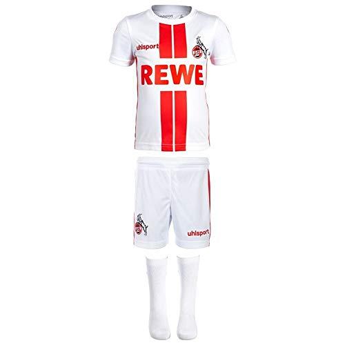 uhlsport 1. FC Köln Heim Mini Kit 2020 2021 Sponsor Logo Kinder Gr 80-86