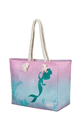 American Tourister Modern Glow Disney - Schultertasche, 42 cm, 25 L, Mehrfarbig (The Little Mermaid)