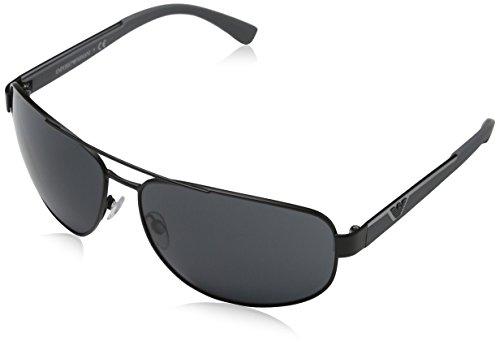 Emporio Armani Unisex EA2036 zonnebril, zwart (mat zwart 300187), X-Large (fabrikantmaat: 64)