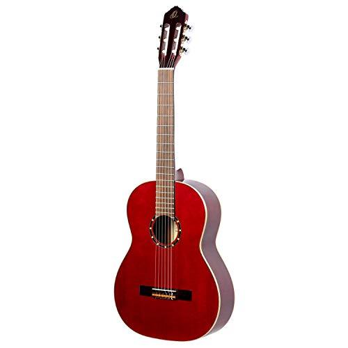 Ortega R121LWR Zurdos Guitarra Clásica (acabado de alto brillo, GIGBAG lujo)...