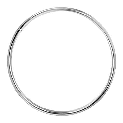 Piercing Ring 925 Sterling Silber dünn Hoop Ohrpiercing Lippenpiercing Nasenpiercing (7.0)