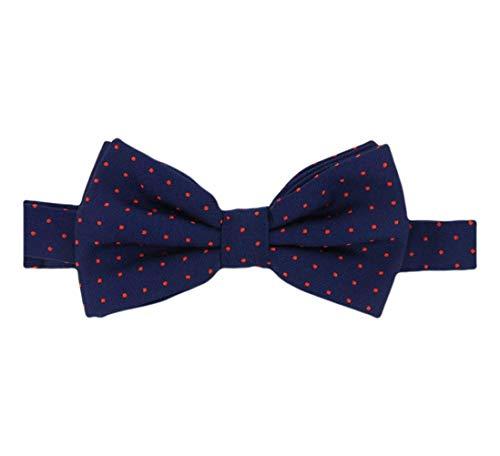 David Van Hagen Marine/Rouge Pin Dot cravate - déjà-nouée de