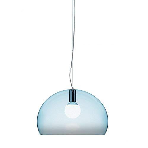 Kartell Small FL/Y, Lampada da Soffitto, Azzurro Nuvola