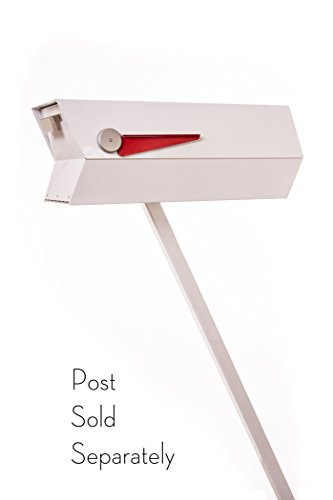 modbox USA Mid-Century Modern Curbside Mailbox | One Color (White)