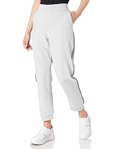 Armani Exchange Cropped Leg Logo Sweatpants Pantalón Deporte, Bc04 Htr Grey, XL para Mujer