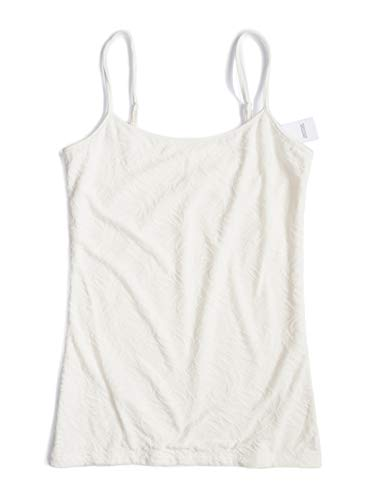 Ann Taylor LOFT Outlet Women's Jacquard Camisole (Small, Ivory)