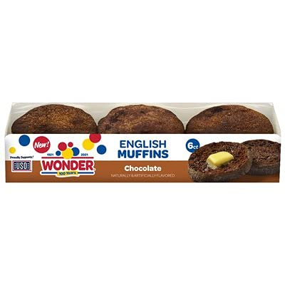 Wonder Bread Chocolate English Muffins 6 ct - 2 Packs