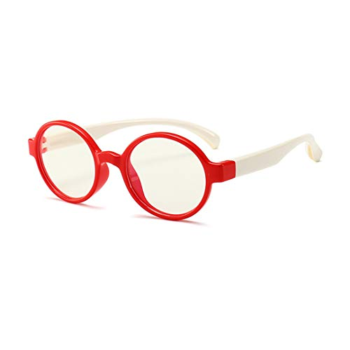 Kinder Brille Ohne Stärke Blaulichtfilter UV Blockieren TR90 Rahmen Gamingbrille Computerbrille Anti Müdigkeit für Jungen Und Mädchen