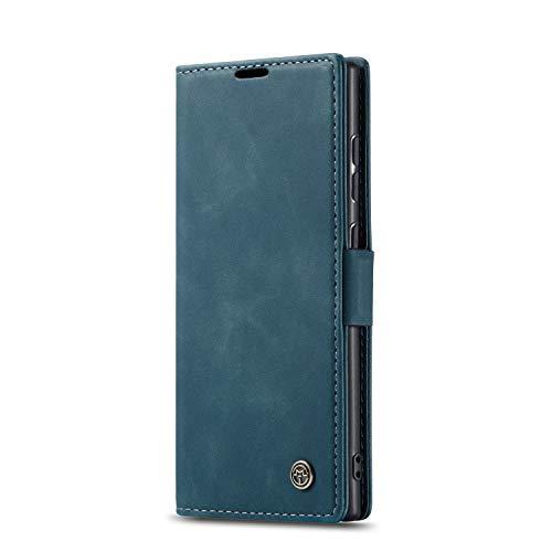 JMstore hülle kompatibel mit Samsung Galaxy Note10 Lite/M60s/A81, Leder Flip Schutzhülle Brieftasche Handyhülle mit Kreditkarten Standfunktion (Blau)