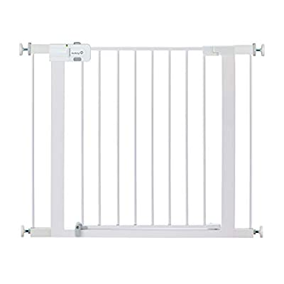 Safety 1st Easy Install Metal Baby Gate with Pressure Mount Fastening (White), Pack of 1 from Safety 1st