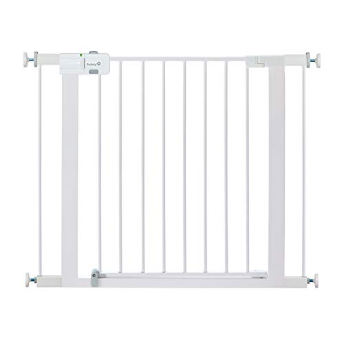 Safety 1st Easy Install Metal Baby Gate with Pressure Mount...