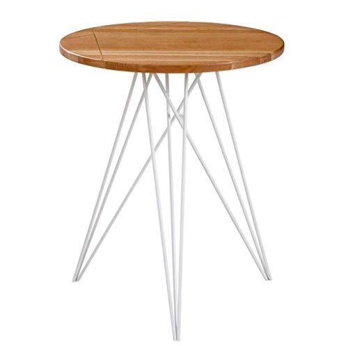 HYY-YY Mesa de centro moderna minimalista sala de estar pequeño apartamento negociación mesa creativa hierro forjado mesa de madera sólida