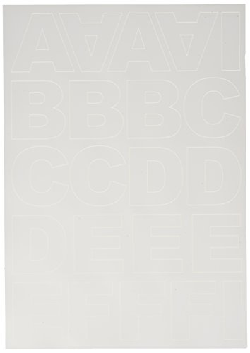 Rayher Hobby 38922000 Klebebuchstaben Blockschrift, groß, 5 cm, DIN A4, selbstklebend