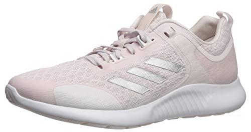 adidas Women's Edgebounce 1.5 Running Shoe, Orchid Tint/Silver Metallic/White, 9.5 M US