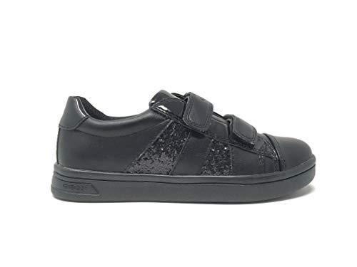 Zapatos de niña Zapatilla de Deporte GEOX J DJROCK en Cuero Negro J944MC-0BCEW-C9999
