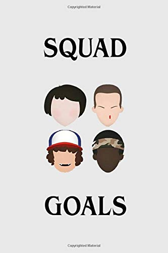 Squad Goals: Stranger things gadget, 100 lined pages