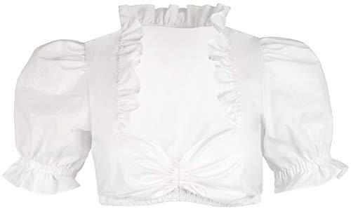 Iseaa Camicetta Tradizionale Dirndl Luna in Bianco 34