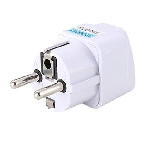 ☺HWTOP Universal Reiseadapter Netzstecker Adapter Reise Konverter UK US AU zu EU AC Steckdose Stecker Ladegerät Konverter Anschluss Reisestecker Travel Plug Adapter Plug Weiss