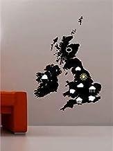 ZCZZ Weer Kaart Wolken & Zon Muur Art Sticker Decal Kids Slaapkamer Lounge - Groen