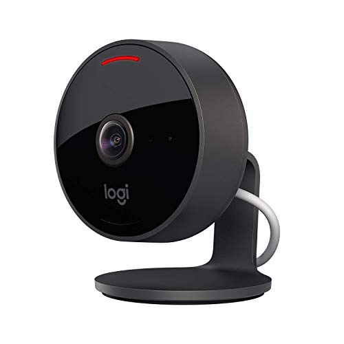 Logitech Circle View Weatherproof Wired Home Security Camera with Logitech TrueView Video, 180° Wide Angle, 1080p HD, Night Vision, 2-Way Audio, Tilt for Privacy, Encrypted, Apple HomeKit Secure Video