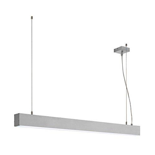 SLV LED Büro-Hängelampe dimmbar, höhenverstellbar, Blendfreie Büro-Beleuchtung, Arbeitszimmer-Deckenleuchte, Hänge-Lampe Büro, Arbeitsplatz-Beleuchtung, Panel, Kaltweiß 4000K, LED Inside, EEK A++