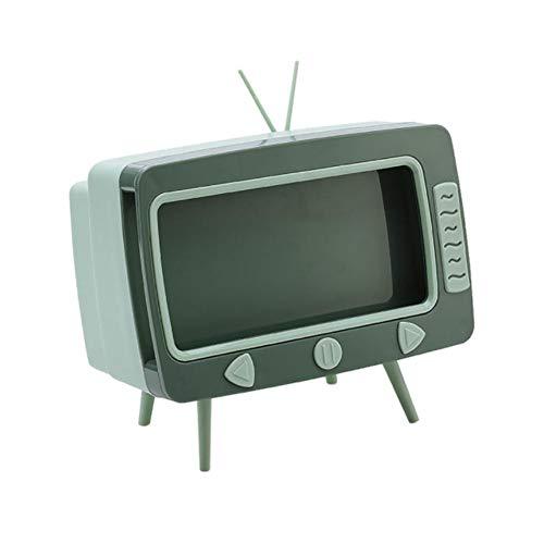 OBOYGANGNQE TV Tissue Box Soporte para telfono mvil Servilletero de Escritorio Soporte para contenedor Rack Caja dispensadora de pauelos Multifuncional Caja para el hogar-Verde, Francia