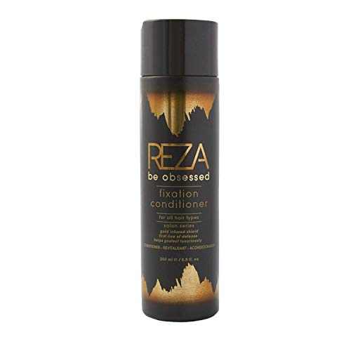 Reza Fixation Conditioner: Luxury Deep Conditioning Hair Care for Smooth, Shiny Hair, Sulfate Free, Paraben Free, Tames Frizz, Repairs Damage, for Women & Men & All Hair Types, 8.5 Fl. Oz.