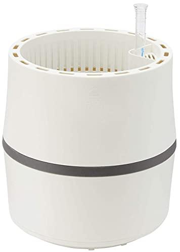 AIRY Sistema S (Ø 22 cm) – Purificador y humidificador natural – Sistema de biofilter patentado – Conversión de sustancias nocivas – Apto para alérgicos (Snow White/Stone Grey) 🔥