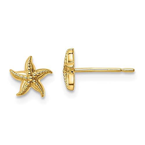 14k Yellow Gold Madi K Starfish Stud Earrings
