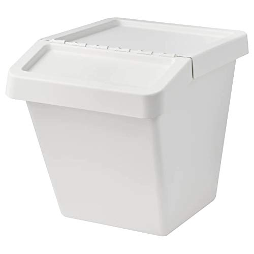 My Stylo Collection Cubo de basura con tapa blanco, 60 L, tamaño montado: ancho: 41 cm, profundidad: 55 cm, altura: 45 cm, capacidad: 60 L