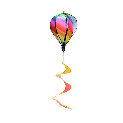 lujiaoshout Heißluft-Ballon-drehender Wind-Streifen Windmühle Im Freien hängenden Anhänger Party Supplies Streifen Stil