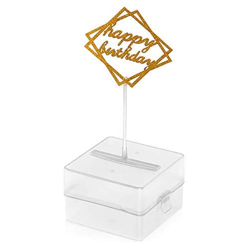 S-TROUBLE Kuchen Money Box Set, Geld ziehen Kuchen Machen Schimmel, Glitter Happy Birthday Cake Topper, interessante Geburtstagstorte für Geburtstagsfeier Dekoration