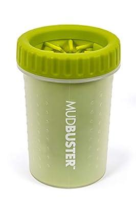 Dexas MudBuster Portable Dog Paw Cleaner, Medium, Green by Dexas International, LTD