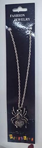 Frames 42321 - Collar con colgante de araña y corazón (5 cm) de metal plateado