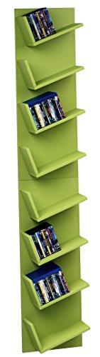 VCM Design wandrek, hangrek, boekenrek, CD DVD kast, plank, groen