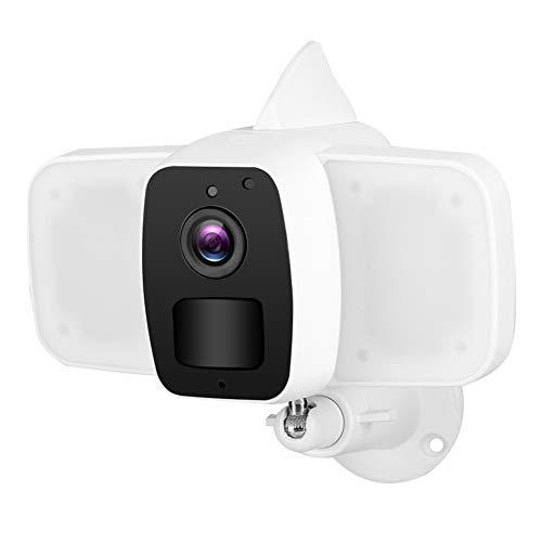 Cámara de vigilancia casera, Prenda Impermeable de la cámara IP 1080P IP65 de WiFi del Reflector para la Seguridad casera para el jardín