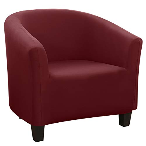 SearchI Sesselhussen Stretch Sesselschoner Elastisch Sesselbezug Sofahusse Sofabezug Sofaüberwurf Couch Cocktailsessel Sessel Hussen (Weinrot Milchseide)
