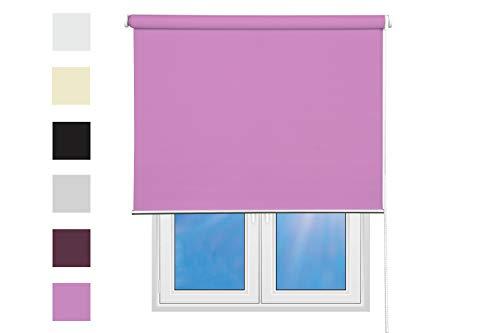 Verdunkelungsrollo 100% lichtundurchlässig Verdunklungsrollo Blackout Sonnenschutz für Fenster und Türen Rollo verdunkelnd (rosa, 80 x 200 (Breite x Höhe))