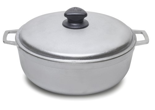 Caldero de aluminio fundido de Imusa, certificado NSF, multicolor/fantasía (NATURAL CAST ALUMINUM), 1.6 Quart, 1