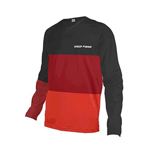 Uglyfrog Element Racewear MX Motocross MTB Downhill Jersey Shirt Enduro Offroad Motorrad Quad Cross Erwachsene Schnell Trocken Kurzarm/Langarm Rennrad Radtrikot