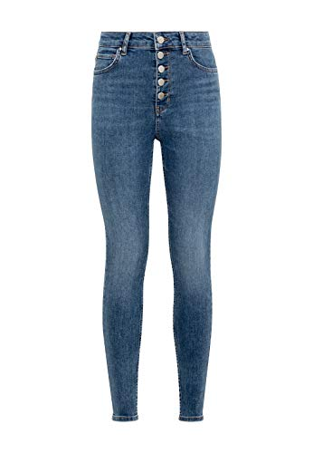 HALLHUBER High Waist Skinny Ella aus Candiani Denim eng geschnitten Middle Blue Denim, 42