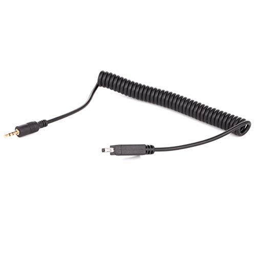 vhbw Cable de conexión Compatible con Nikon D3100, D3200, D3300, D5000, D5100, D5200, D5300 cámara, DSLR - 100cm, Cable Espiral