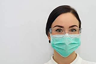 MaxPlay 50 Pcs Surgical Disposable Face Masks with Thread Earloop, 4-Ply Thicker Breathable and Comfortable Safety Masks for Home Office Hospital Use (Green)