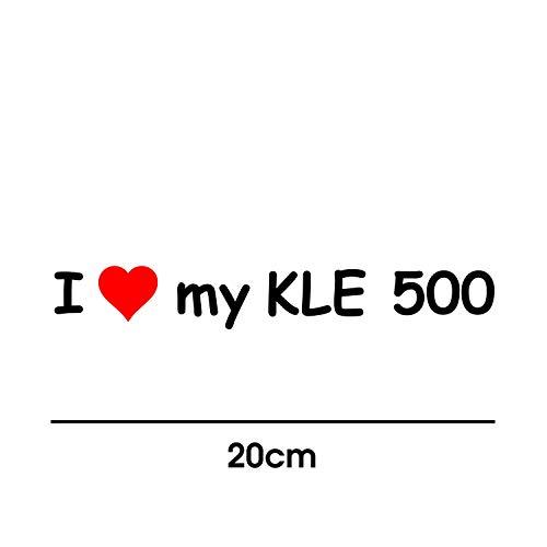 myrockshirt I Love My KLE 500 20cm Aufkleber für Motorrad Bike Roller Mofa Sticker Decal Tuningaufkleber Tuning