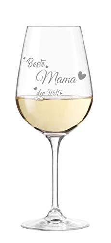 Leonardo Weinglas mit Gravur Beste Mama - Geschenkidee, Muttertag, Geburtstag, Weihnachten, Beste Mama der Welt