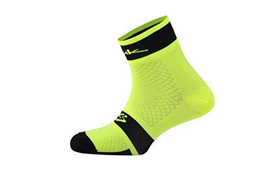 Spiuk XP Summer Pack de Calcetines, Hombre, Blanco/Amarillo AV, 44/47